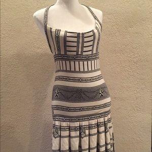 Zac Posen Nautical Halter Knit Dress